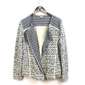 Lucky Brand | Asymmetrical Zip Up Jacket w/ Fringe